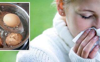 Прогревание носа яйцом при насморке — 5 правил процедуры
