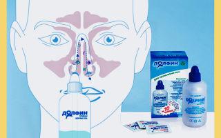 Долфин при гайморите — сколько раз в день можно промывать нос?