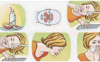4 средства (раствора) для промывания носа при насморке в домашних условиях